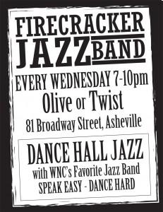 Firecracker Jazz Band 8.5x11 Olive or Twist